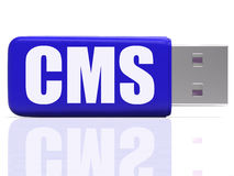 CMS Pen drive Means Content Optimization Or Stock Image