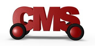 Cms on the road Royalty Free Stock Image