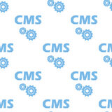 Cms seamless pattern Royalty Free Stock Image