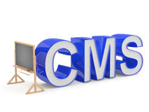 CMS sign Royalty Free Stock Photography