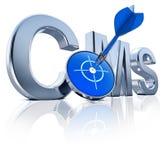 Cms-symbol Arkivbild