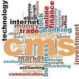 CMS word cloud Royalty Free Stock Photography
