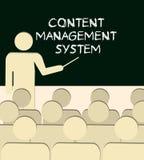 Cms-zufriedenes Managementsystem Stockbild