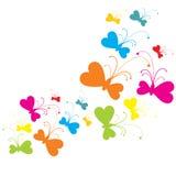 CMY (K) papillons Photographie stock