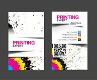 Cmyk印刷商业卡片 库存例证