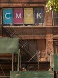 CMYK显示 库存照片