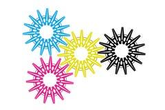 CMYK色的概念 库存图片