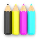 CMYK铅笔概念2 库存图片