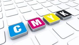 CMYK颜色块 免版税库存照片