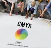 CMYK颜色象征标志概念 免版税库存图片