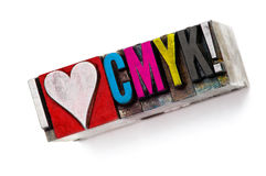cmyk αγάπη ι στοκ εικόνες