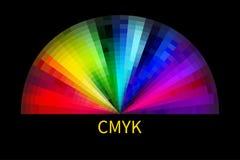 cmyk αντικείμενο πέρα από το λευκό παλετών απεικόνιση αποθεμάτων