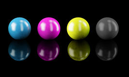 cmyk χρώματα Στοκ εικόνα με δικαίωμα ελεύθερης χρήσης