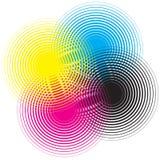 cmyk круга Стоковое Изображение RF
