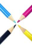 Cmyk. Concept - pencils on white Stock Photo