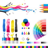 Cmyk illustrazione di stock