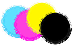 Cmyk. Four circles in cmyk colours Stock Images