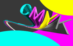 Cmyk 3d word Royalty Free Stock Image