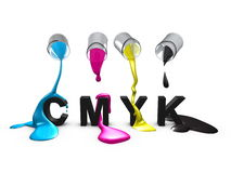 Cmyk. 3d, image, Conceptual, Color code-Cmyk Royalty Free Stock Photography