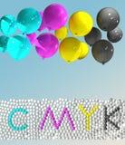 Cmyk. Cyan,magenta,yellow,key Royalty Free Stock Photo