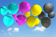 Cmyk. Color with abstract balloons Stock Illustration