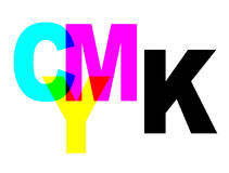 CMYK. Color scheme with letters C, M, Y, K Royalty Free Stock Image