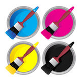 Cmyk stock illustratie