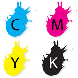 Cmyk. Color in white background Royalty Free Stock Photos