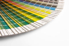 CMYK. Open CMYK sample colors catalogue royalty free stock photos