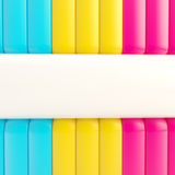 Cmyk abstract background made of stripes Royalty Free Stock Images