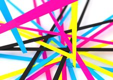 Free Cmyk Abstract Line Illustration For Bussines Presentations Royalty Free Stock Photo - 42145175