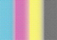 CMYK abstrato Mesh Pattern Background Textures ilustração stock