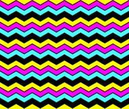 CMYK-achtergrond van het zigzag de naadloze patroon Royalty-vrije Stock Fotografie