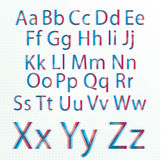 CMYK alphabet Stock Images