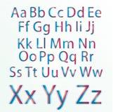 CMYK alphabet. Illustrated digital CMYK alphabet, eps10 stock illustration