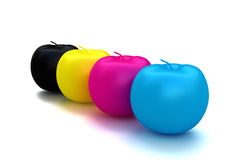 Cmyk Apple fruit Royalty Free Stock Photos