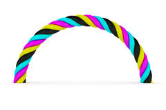 CMYK arch Royalty Free Stock Photography