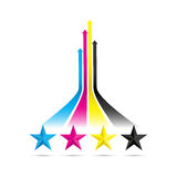 Cmyk arrow background Royalty Free Stock Images