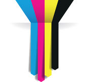 Cmyk arrow lines Stock Image