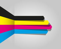 Cmyk arrow lines Royalty Free Stock Images