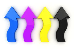 CMYK Arrows Royalty Free Stock Images