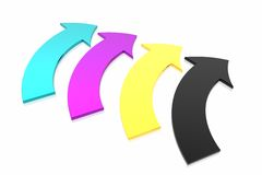 CMYK arrows Stock Images