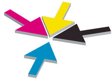 Cmyk arrows Stock Photo