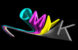 Cmyk with background. Cmyk colore word with background Vector Illustration