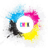CMYK Background. An abstract CMYK background design Royalty Free Stock Image