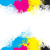 CMYK Background. An abstract CMYK background design Stock Image