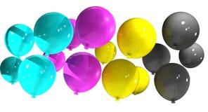 Cmyk balloons_white stock fotografie