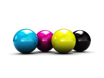 CMYK balls Royalty Free Stock Images