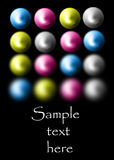 Cmyk balls Royalty Free Stock Image