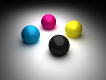 CMYK Balls Vignette Royalty Free Stock Image